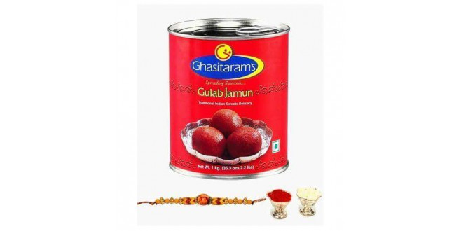 Rakhi With Gulabjamun Combo