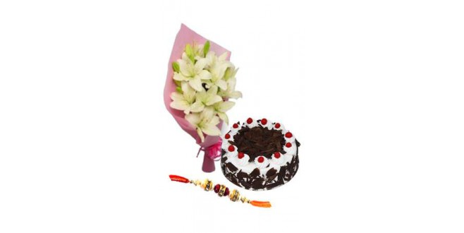 Rakhi with Black Forest Cake