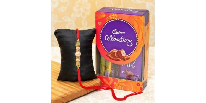 Rakhi with Cadbury Celebration Box