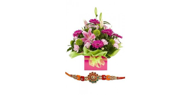 Royal Beauty Bouquet with Rakhi