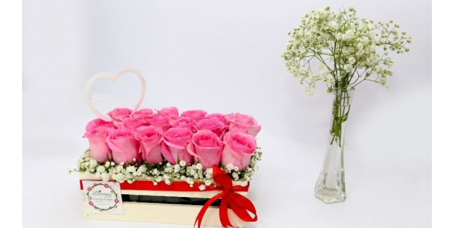 Thank You - Pin Roses Box Bouquet