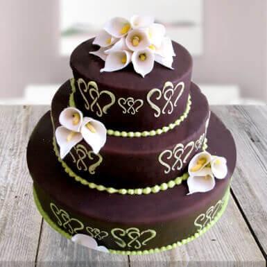 Beautiful Chocolate Mountain Cake(4KG)