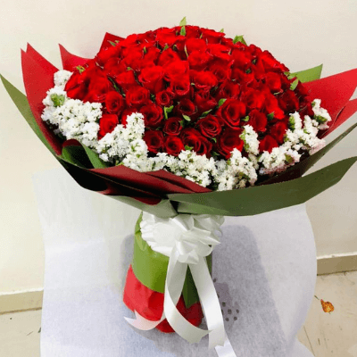Cherishing 150 Red Roses Bouquet