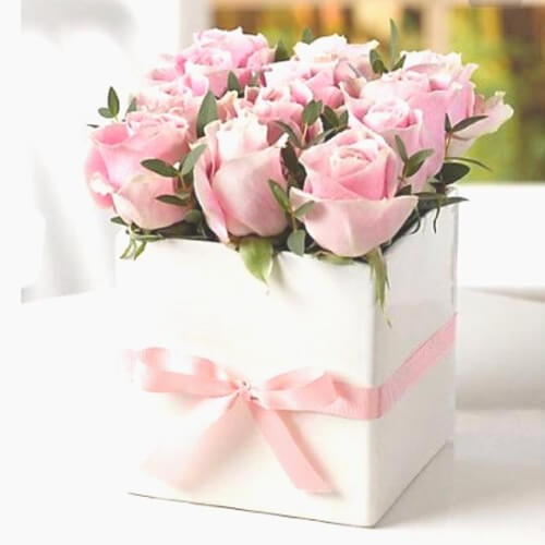 Pink Beauty - 15 Pink Roses Bouquet