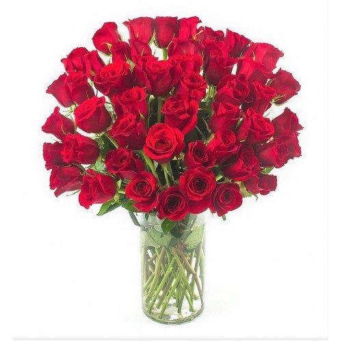 My Love is for You - 40 Premium Red Roses Vase Bouquet