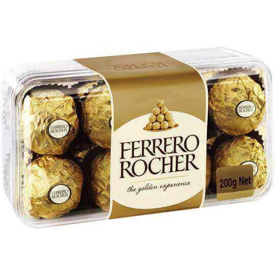 Ferrero Rocher - Chocolate (16 Pcs) 200 gm Box