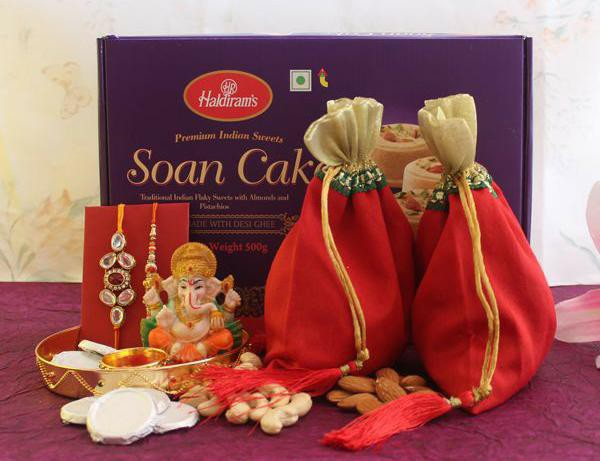 Rakhi Special Sweets Box with Ganesh Idol