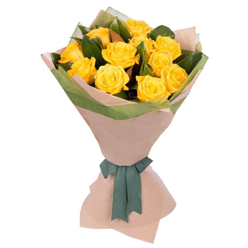 LONG STEMMED YELLOW ROSES BOUQUET