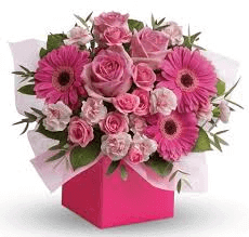 Pretty Pink Flower Box