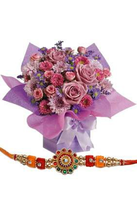 Rakhi with Mix Beauty