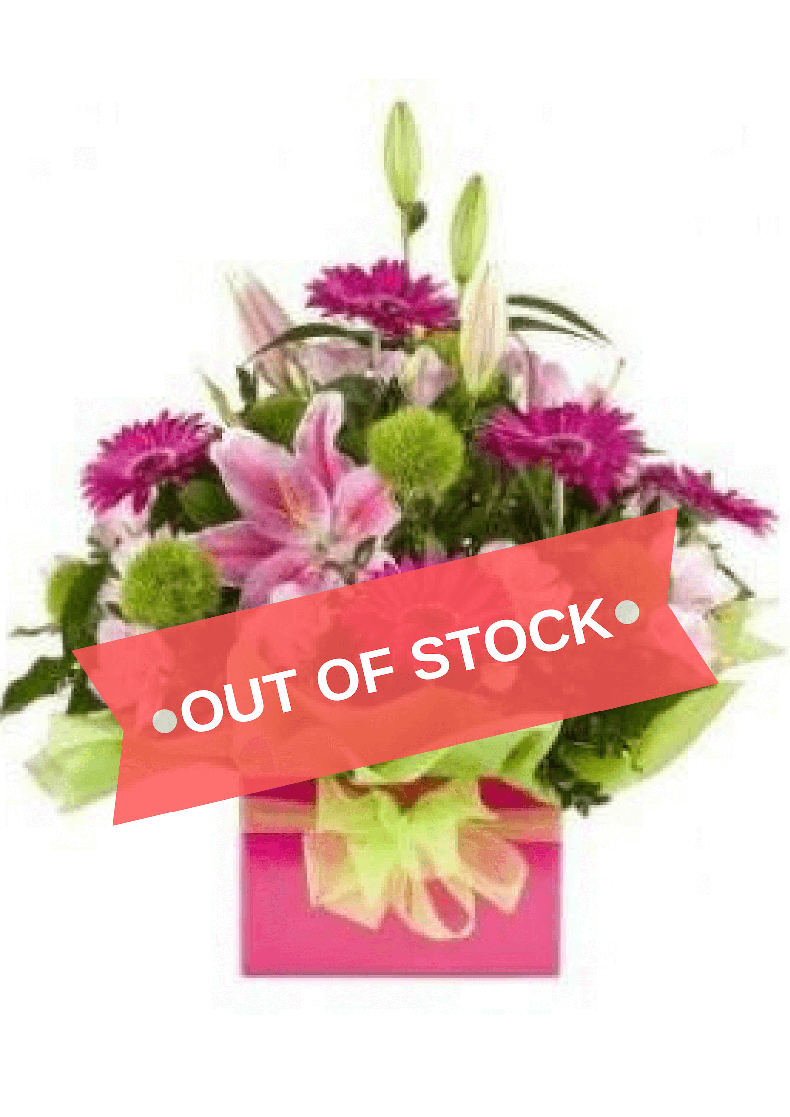 Boxed Pink Flower Arrangement