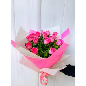 Blush - 15 Pink Roses Bouquet