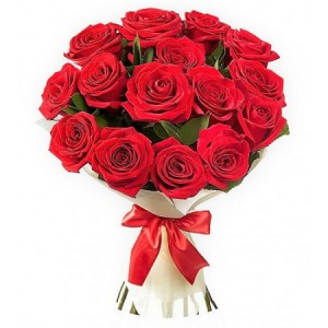 20 Premium Red Roses - Hand Bouquet