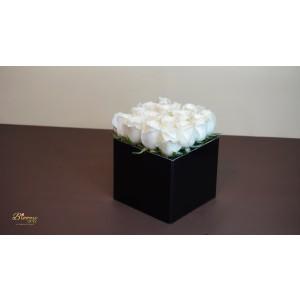 20 White Roses Box