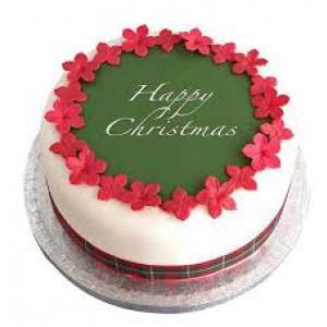 Christmas Fondant Cake Chocolate