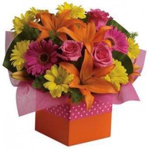 Graceful Flowers Box Arrangements