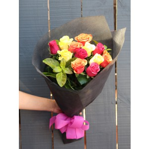 Mix n Match (Small) - Mix Colour Roses Hand Bouquet