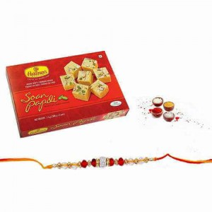 Rakhi And Soan Papdi Combo