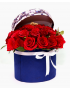 Red Roses Blue Box Bouquet