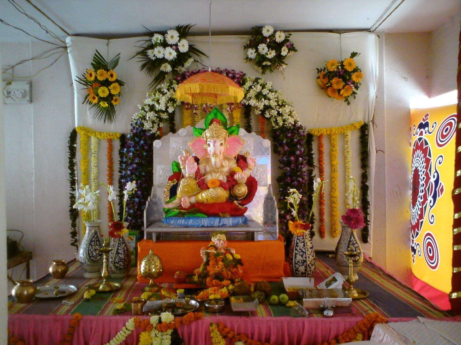 Flower decoration service for Ganapati