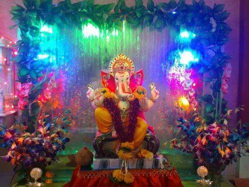 High quality floral decoration for Ganapati