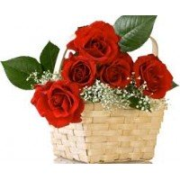 Red Roses Basket flower arrangement