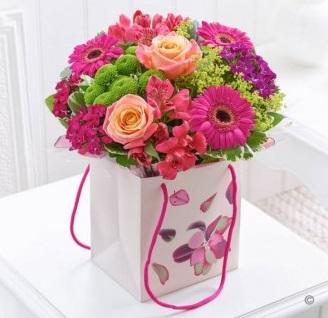 Flowers bag arrangement
