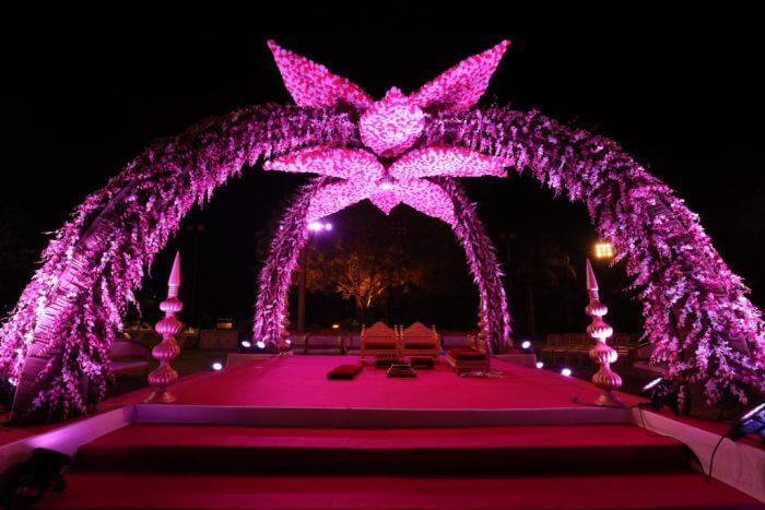 Sky of blossoms Mandap