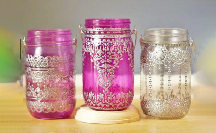 Glass Jar Lanterns