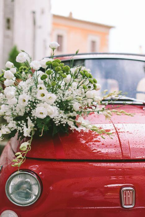 vintage style Car Flower Decoration Services
